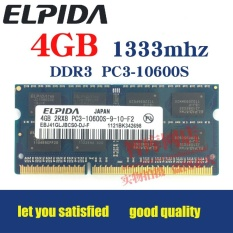 ELPIDA DDR3 4 GB 1333 MHz Laptop RAM PC3-10600s Kompatibel dengan 2 GB 1066-Intl