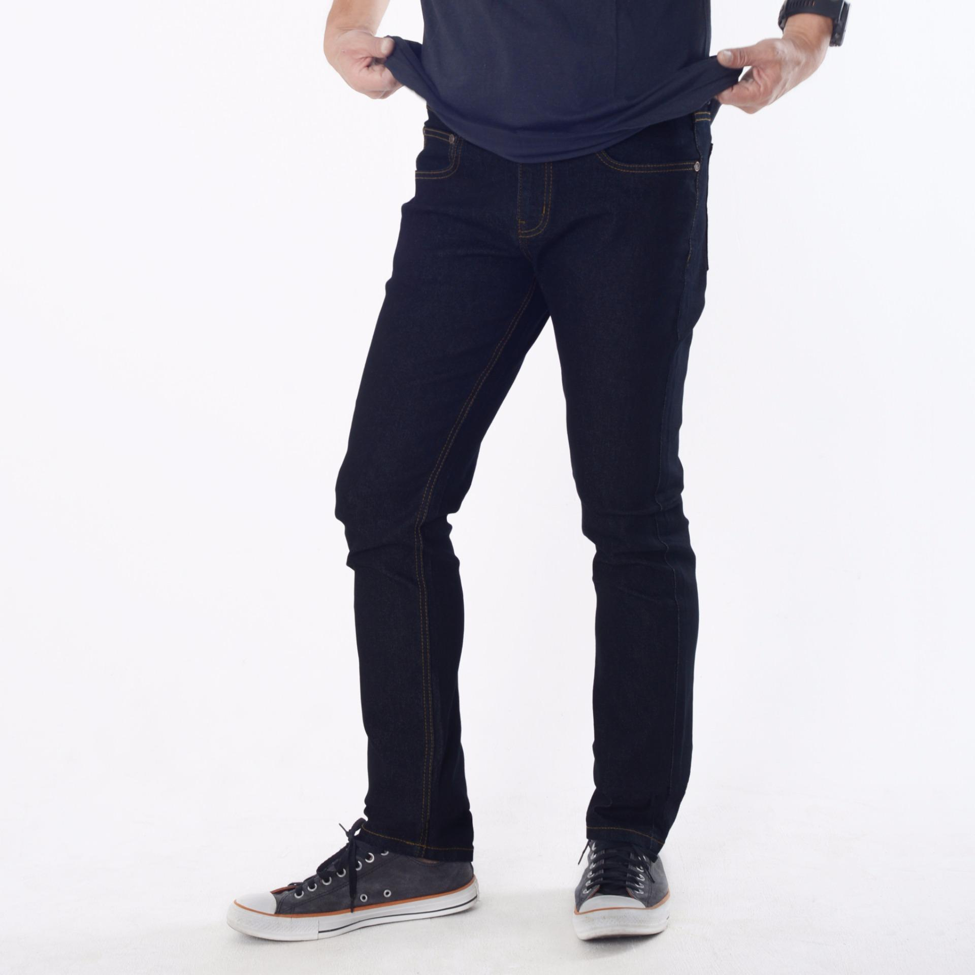 Beli Emba Jeans Celana Panjang Pria Bs 07 1 Morgan Slim Regular Fit Garment Wash Online
