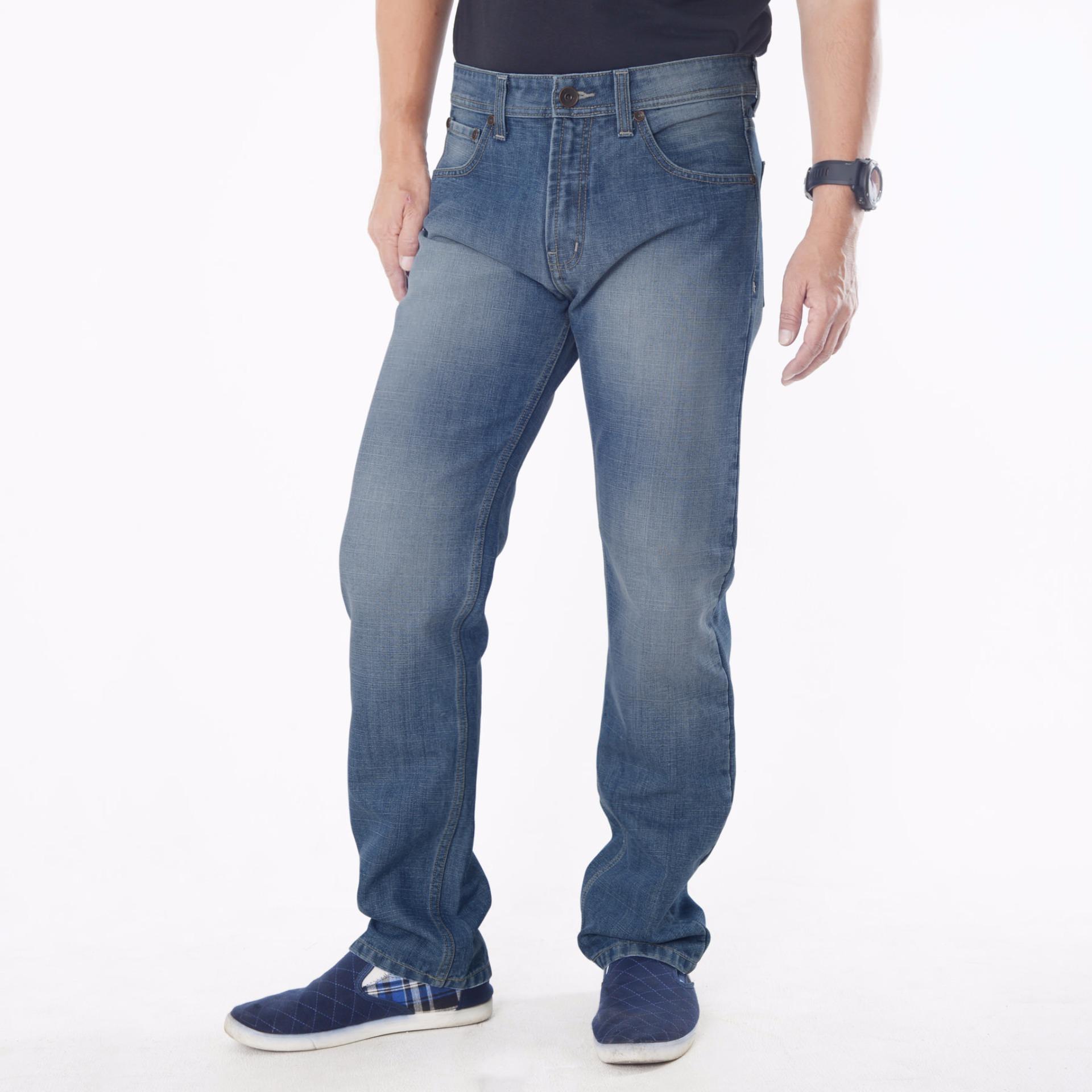 Emba Jeans Celana Panjang Pria BS 08A.1 Jordan Regular - Heavy Stone Medium