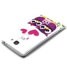 Embossed Fleksibel TPU Case untuk LG Magna H502F H500F-Cinta Owl Family