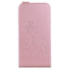 Embossed Pola Bunga Mawar Vertikal Flip Leather Case dengan Slot Kartu untuk Xiaomi Redmi 4X-Intl