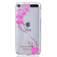 Embossed Soft TPU Clear Back Case untuk IPod Touch 5/6-Plum Blossom-Intl
