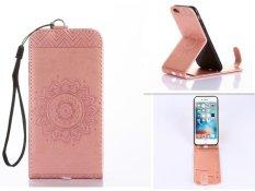 Embossing PU Leather Wallet Stand Flip Atas And Ke Bawah Flip Case Cover Garis untuk Samsung Galaxy J5 (2016) J510 Case