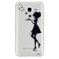 Embossment Soft TPU Shell untuk Samsung Galaxy J5 SM-J500F (Girl/Dandelion)