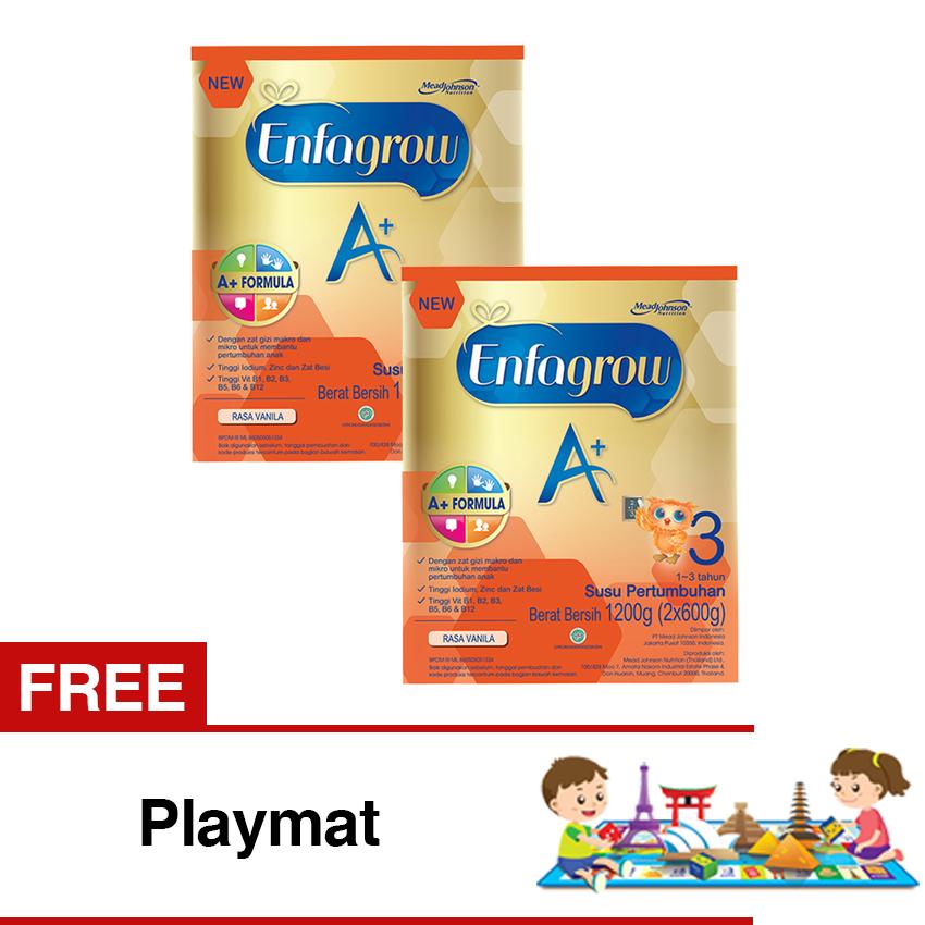 Review Tentang Enfagrow A 3 Susu Vanila 1200 Gr Box Bundle Isi 2 Free Playmat
