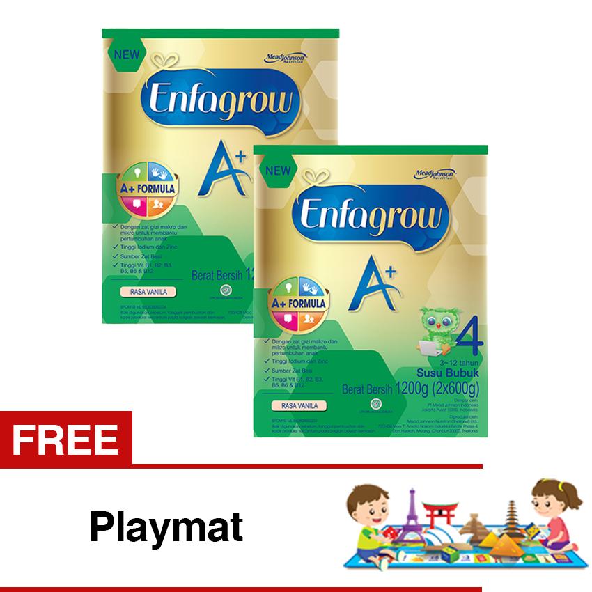 Enfagrow A 4 Susu Vanila 1200 Gr Box Bundle Isi 2 Free Playmat Enfagrow Murah Di Jawa Barat