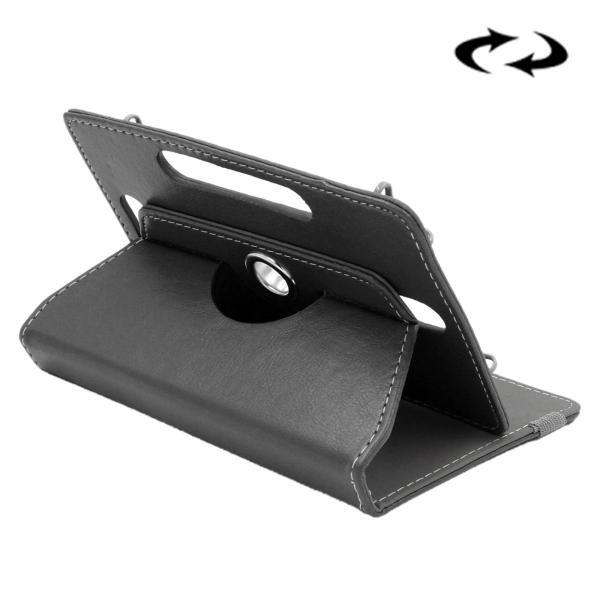 ENKAY 10 Inch Tablet Leather Case Crazy Horse Tekstur 360 Derajat Rotasi Protective Case Shell dengan Holder untuk ASUS ZenPad 10 Z300C, Huawei MediaPad M2 10.0-A01W, Cube IWORK10 (Hitam)-Intl