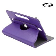 ENKAY 10 Inch Tablet Leather Case Crazy Horse Tekstur 360 Derajat Rotasi Protective Case Shell dengan Holder untuk ASUS ZenPad 10 Z300C, Huawei MediaPad M2 10.0-A01W, Cube IWORK10 (Ungu)-Intl