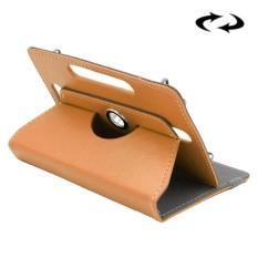 ENKAY 10 Inch Tablet Leather Case Crazy Horse Tekstur 360 Derajat Rotasi Protective Case Shell dengan Holder untuk ASUS ZenPad 10 Z300C, Huawei MediaPad M2 10.0-A01W, Cube IWORK10 (Kuning)-Intl