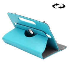 ENKAY 10 Inch Tablet Leather Case Crazy Horse Tekstur 360 Derajat Rotasi Protective Case Shell dengan Holder untuk ASUS ZenPad 10 Z300C, Huawei MediaPad M2 10.0-A01W, Cube IWORK10 (Biru)-Intl
