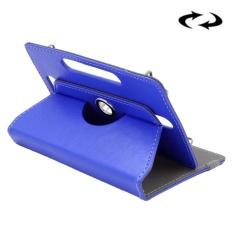 ENKAY 10 Inch Tablet Leather Case Crazy Horse Tekstur 360 Derajat Rotasi Protective Case Shell dengan Holder untuk ASUS ZenPad 10 Z300C, Huawei MediaPad M2 10.0-A01W, Cube IWORK10 (DARK BIRU)-Intl