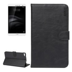 ENKAY For Huawei MediaPad M2 7.0 Crazy Horse Texture Horizontal Flip Leather Protective Case Shell with Sleep / Wake-up Function and Holder and Card Slots and Wallet(Black) - intl