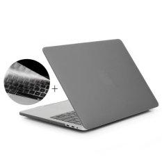 ENKAY Hat-Prince 2 In 1 Frosted Cangkang Keras Plastik Pelindung Case + U.S. Versi Ultra Tipis TPU keyboard Protector Cover untuk 2016 Baru MAC Buku Pro 13.3 Inch Tanpa Touchbar (A1708) (Grey)-Intl