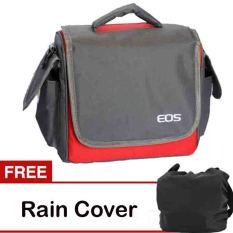 Beli Eos Tas Kamera Canon 2 Lensa Merah Abu Abu Free Rain Cover Dengan Kartu Kredit