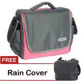 Toko Jual Eos Tas Kamera Canon 2 Lensa Pink Gratis Rain Cover