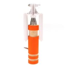 Eozy Mini Selfie Stick Smart Wired Monopod Kabel ExtendableFoldable Handheld No Charge (Warna: Orange)-Intl