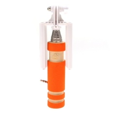 Eozy Mini Selfie Stick Smart Wired Monopod Kabel ExtendableFoldableHandheld Tidak Dikenakan Biaya (Warna: Orange)-Intl