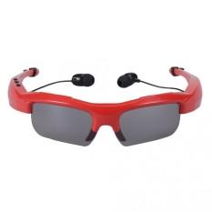 EOZY Olahraga Stereo Nirkabel Bluetooth 4.1 Headset TelephoneDrivingSunglasses/Mp3 Riding Mata Kacamata (Merah)