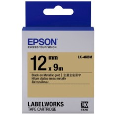 Toko Epson Lk 4Kbm 12Mm Black On Gold Label Tape Cartridge Epson Online