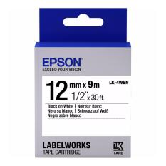 Review Epson Lk 4Wbn 12Mm Black On White Label Tape Cartridge Epson