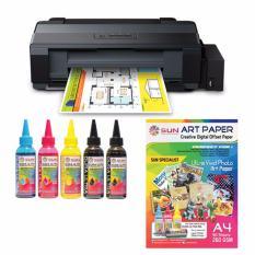 Epson Printer L1300 SUN Dura Ultra Art paper Ink 100ml BBCMY Bonus SUN Art Paper A3