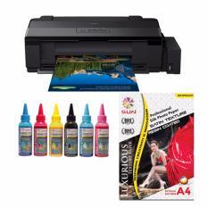 Epson Printer L1800 SUN Pigment PRO Ink 100ml BCMYLcLm Bonus SUN Professional Photo Paper A3