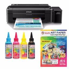 Epson Printer L310 Sun Dura Ultra Art Paper Ink Bonus Art Paper A4