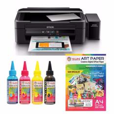 Epson Printer L360 Sun Dura Ultra Art Paper Ink Bonus Art Paper A4