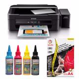 Harga Epson Printer L360 Sun Pigment Pro Ink Bonus Silk Photo Paper A4 Satin Termahal