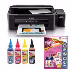 Epson Printer L360 SUN Sublime Max Ink Bonus Sublime Max Paper A4