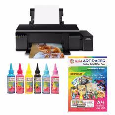 Epson Printer L805 Sun Dura Ultra Art Paper Ink Bonus Art Paper A4