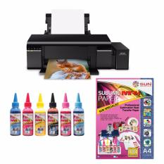 Epson Printer L805 Sun Sublime Max Ink Bonus Sublime Max Paper A4