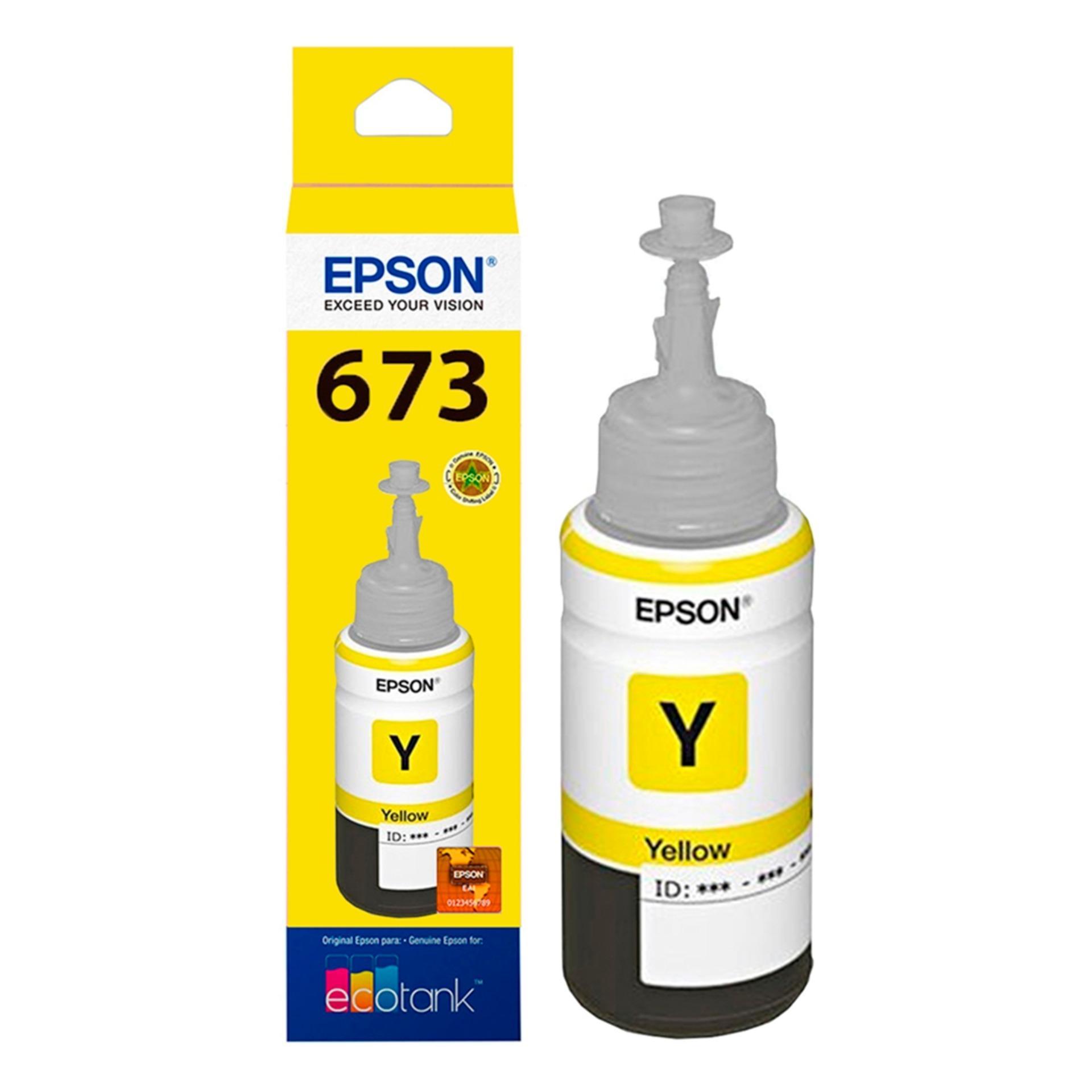 Epson T6734 Yellow Tinta Botol Epson L800 Series - T673 Kuning Original