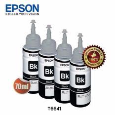 Beli Epson Tinta Botol Set Original T6641 Black 4Pcs Online Dki Jakarta