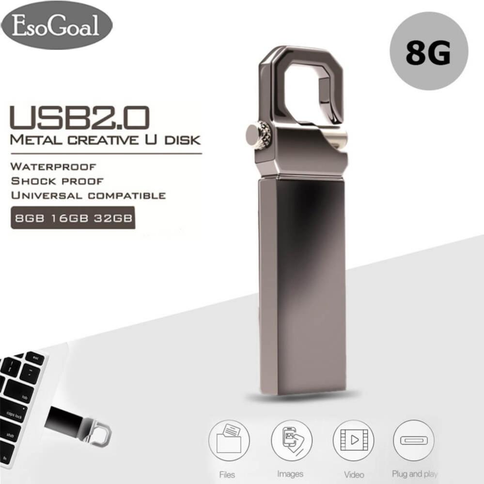 Esogoal 8 Gb Usb 2 Flash Drive Mini Metal Pendrive Kecepatan Tinggi Penyimpanan Data Usb Disk Di Tiongkok