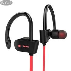 Toko Esogoal Bluetooth Nirkabel Headphone Sport Workout Telinga Tunas Gym Headset Berlari Earphone Tahan Keringat Earbud Merah Esogoal Tiongkok