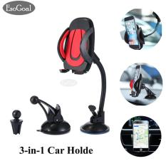 Beli Esogoal Mobil Mount Holder 3 In 1 Air Vent Phone Holder Cradle Dashboard Kaca Depan Universal Untuk Iphone Android And More Perangkat Online Murah