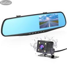 Diskon Esogoal Dual Lensa Dash Cam Spion Mobil Kamera 4 3 Inch Tft Lcd Layar 1080 P Mengemudi Perekam Video With Kembali Up Kamera G Sensor Loop Rekaman Mode Parkir Motion Detection Night Vision Tf Kartu Dikecualikan Akhir Tahun