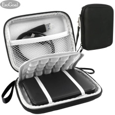 Beli Esogoal Eksternal Hard Drive Bag Case Tahan Kejut Carrying Case Perjalanan Papan 2 5 Inch Portable Eksternal Gps Kamera Pack Hitam Kredit Tiongkok