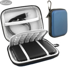 Spesifikasi Esogoal Eksternal Hard Drive Bag Case Tahan Kejut Carrying Case Perjalanan Untuk 2 5 Inch Portable Eksternal Gps Kamera Pack Biru Paling Bagus