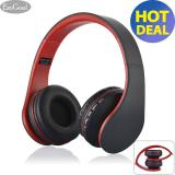 Jual Esogoal Nirkabel Bluetooth Headphone Foldable Headset Kebisingan Isolasi Atas Telinga Earphone Dengan Mic Merah Murah