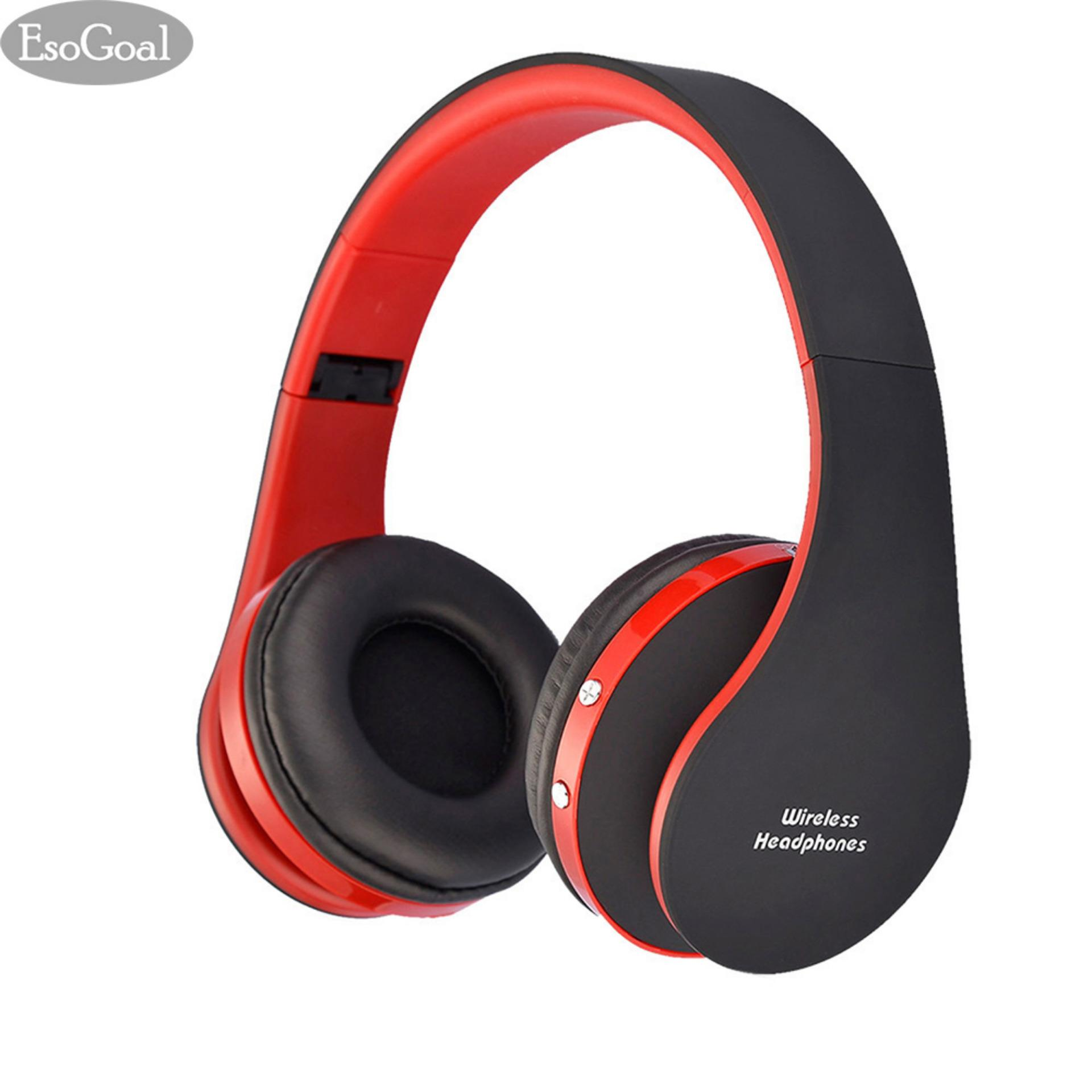 Beli Esogoal Nirkabel Bluetooth V4 1 Headphone In Ear Earphone Stereo Earbud Sport Headset Dengan Mic Merah Hitam Lengkap