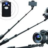 Spesifikasi Esogoal Professional Aluminum Alloy Selfie Stick Monopod Bluetooth Remote For Apple Android Dlsr Gopro Cameras Extendable To 49 Online