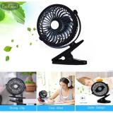 Toko Esogoal Rechargeable Quiet Operated Clip On Mini Desk Fan Black Terdekat