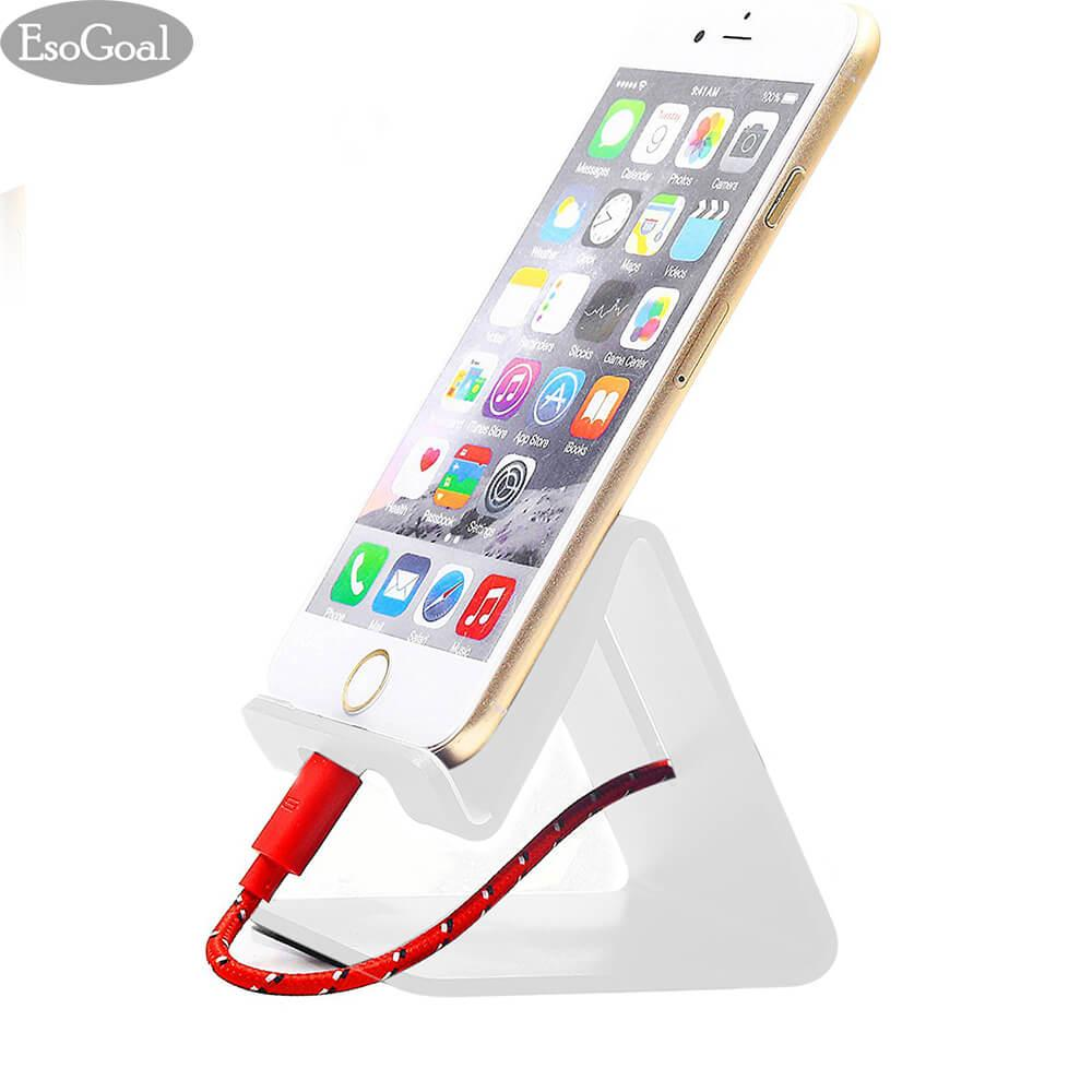 EsoGoal Solid Portable Phone Stand Universal Aluminium Desktop Charger Stand Smart Mobile Cell Phone  Ponsel Tablet Holder untuk Meja Kantor Dapur Home Travel