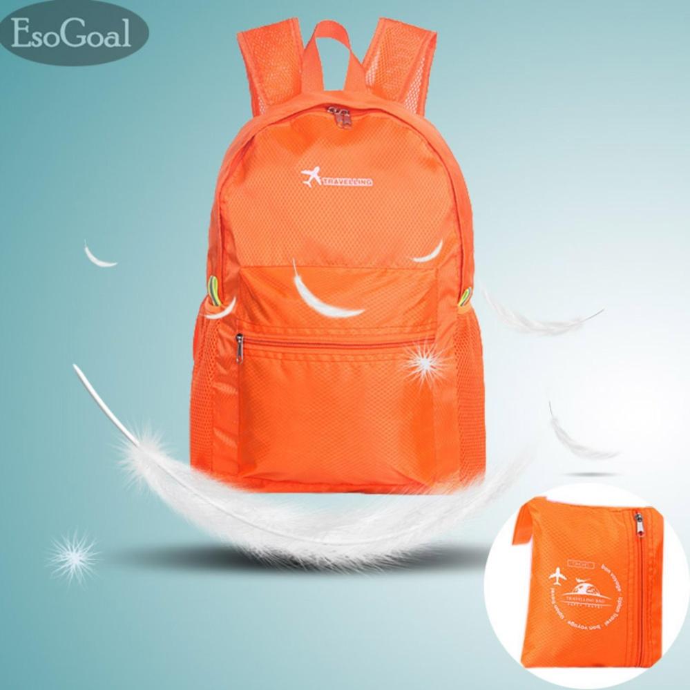 Jual Beli Esogoal Ultralight Handy Travel Backpack Waterproof Tas Kemasan Hiking Daypack Lipat Berkemah Bersepeda Di Luar Sekolah Backpack Orange Di Tiongkok
