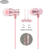 Promo Esogoal Wired Earphone In Ear Earbud Magnetik Stereo Kebisingan Membatalkan Headphone Olahraga Headset With Mic Pink Akhir Tahun
