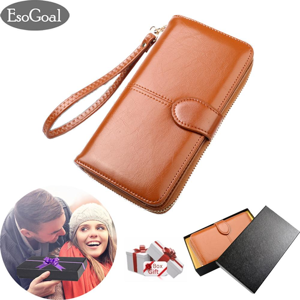 Harga Esogoal Women Large Capacity Leather Purse Clutch Wallet Bifold Checkbook With Phone Pocket For Valentine S Day Present Box Esogoal Asli
