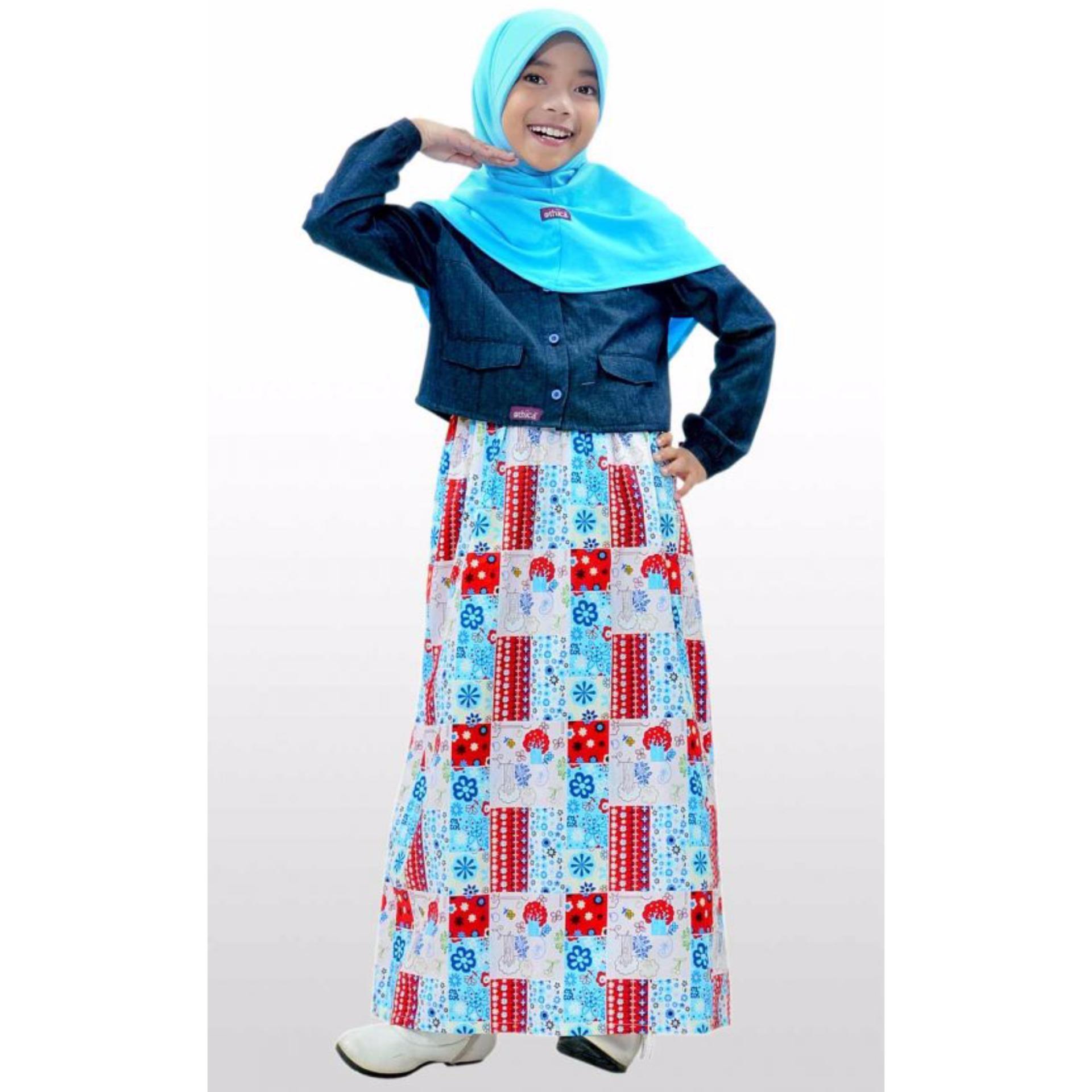 Ethica Moslem Fsahion Dress Anak OSK 57 (Biru)