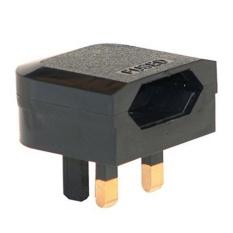 Euro 2 Pin Ke 3 Pin Konverter Plug/USB-Hitam-Internasional